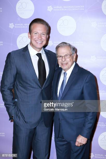 Chris Wragge and Dr Samuel Waxman during the Dr Samuel Waxman Cancer Research Foundation's COLLABORATING FOR A CURE 20th Anniversary Gala on November...