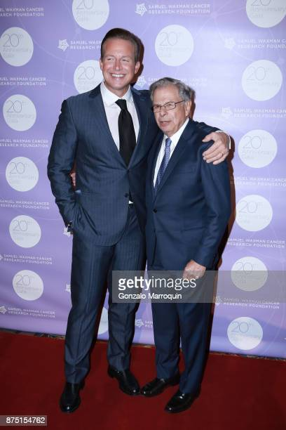 Chris Wragge and Dr Samuel Waxman during the Samuel Waxman Cancer Research Foundation's COLLABORATING FOR A CURE 20th Anniversary Gala on November 16...
