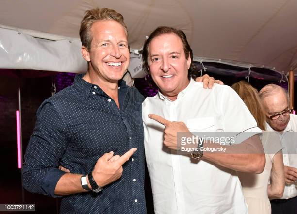 Chris Wragge and Larry Scott attend the Hamptons Magazine 40th Anniversary Bash By Lawrence Scott Events Presented By Compass at Southampton Arts...