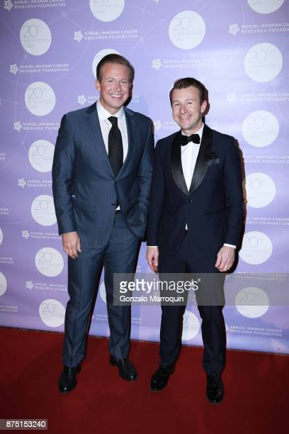 Chris Wragge and Lucas Hunt during the Samuel Waxman Cancer Research Foundation's COLLABORATING FOR A CURE 20th Anniversary Gala on November 16 2017...