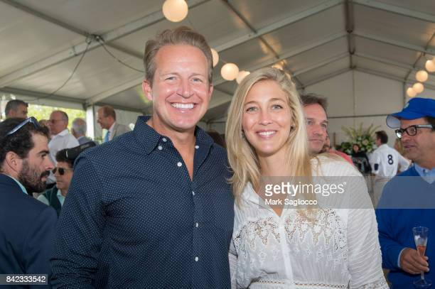 Chris Wragge and Sarah Siciliano attend the Hamptons Magazine Grand Prix celebration at The Hampton Classic at Hampton Classic Horse Show grounds on...