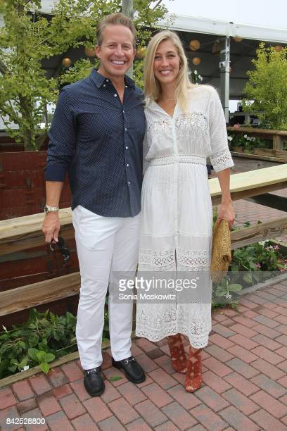 Chris Wragge and Sarah Wragge attend the 2017 Hampton Classic Horse Show Grand Prix competition on September 3 2017 in Bridgehampton New York