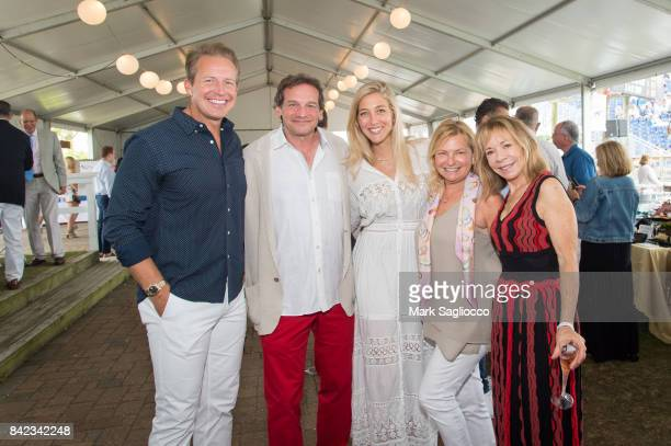 Chris Wragge David Greenberg Sarah Siciliano Debra Halpert and Janet O'Brien attend the Hamptons Magazine Grand Prix celebration at The Hampton...