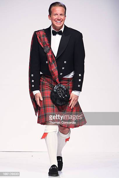 Chris Wragge walks the runway at the 2013 From Scotland With Love Charity Fashion Show at Stage 48 on April 8 2013 in New York City