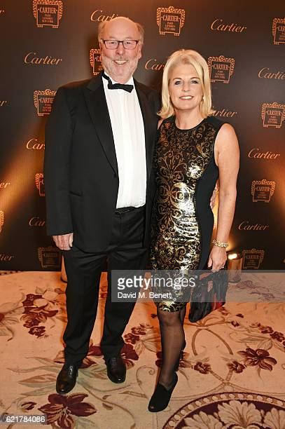 Chris Wright and Janice Wright attend The Cartier Racing Awards 2016 at The Dorchester on November 8 2016 in London England