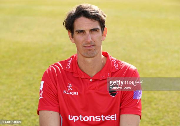 Chris Wright of Leicestershire CCC pictured during the Leicestershire CCC Photocall at Grace Road on April 03 2019 in Leicester England