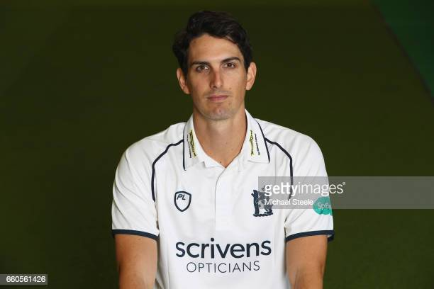 Chris Wright of Warwickshire in the Specsavers County Championship kit during the Warwickshire County Cricket photocall at Edgbaston on March 30 2017...