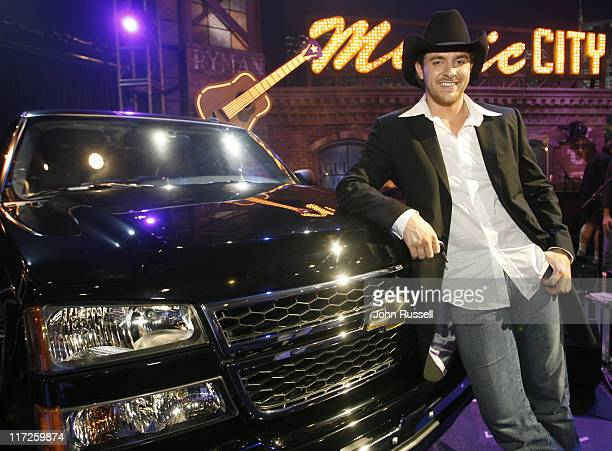 Chris Young during Nashville Star Season 4 Episode 8 at TV Studio in Nashville TN United States