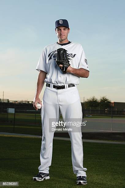 Chris Young of the San Diego Padres poses during photo day at Peoria Stadium on February 24 2009 in Peoria Arizona