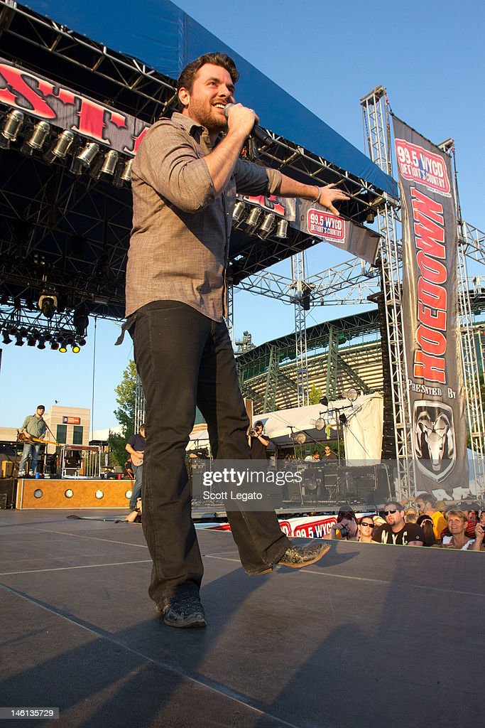 Chris Young performs during the 2012 Downtown Hoedown at Comerica Park on June 10, 2012 in Detroit, Michigan.
