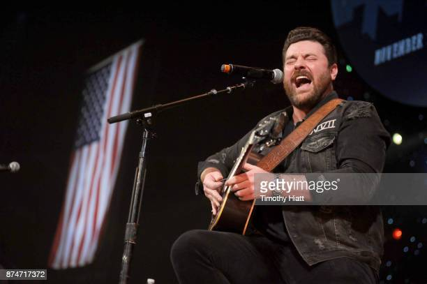 Chris Young performs onstage during CBS RADIO's Third Annual 'Stars and Strings' Concert to honor our nation's veterans at Chicago Theatre on...