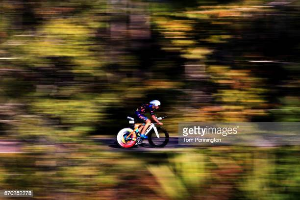 Chris Ziemann competes during the bike portion of the IRONMAN Florida competition on November 4 2017 in Panama City Beach Florida