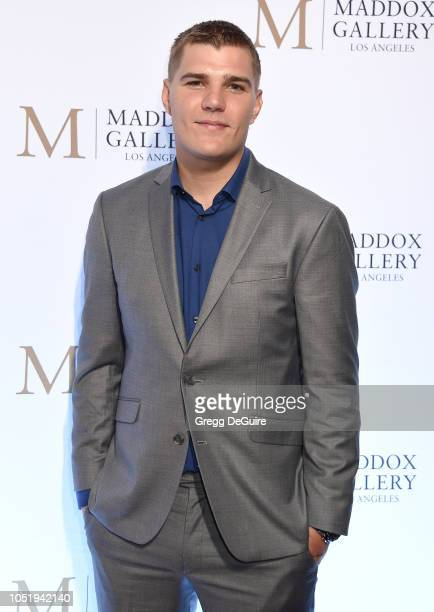 Chris Zylka attends the VIP Opening of Maddox Gallery Exhibition Best Of British at Maddox Gallery on October 11 2018 in Los Angeles California