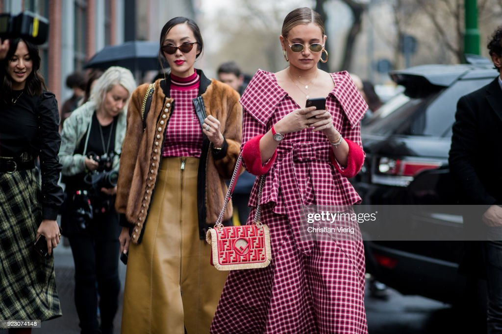 Street Style: February 22 - Milan Fashion Week Fall/Winter 2018/19 : News Photo