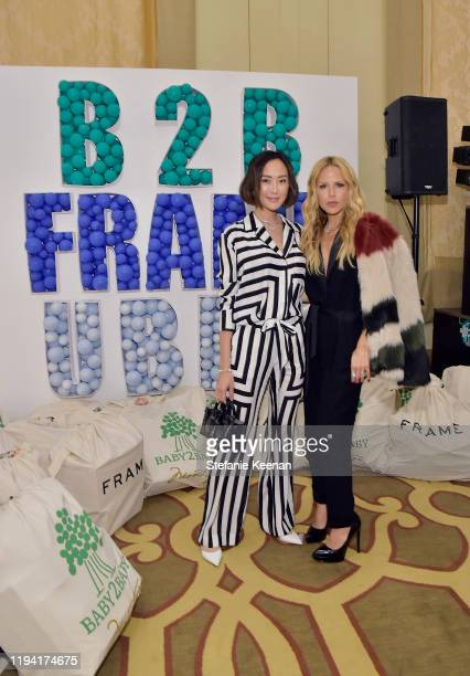 Chriselle Lim and Rachel Zoe attend The Baby2Baby Holiday Party Presented By FRAME And Uber at Montage Beverly Hills on December 15, 2019 in Beverly...