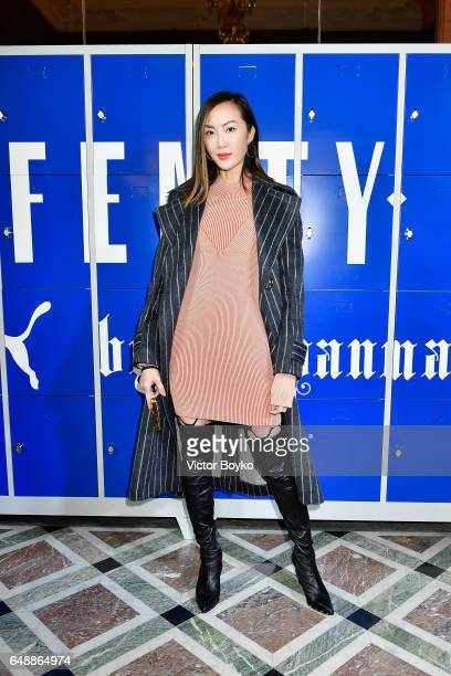 Chriselle Lim attends FENTY PUMA by Rihanna Fall / Winter 2017 Collection at Bibliotheque Nationale de France on March 6 2017 in Paris France