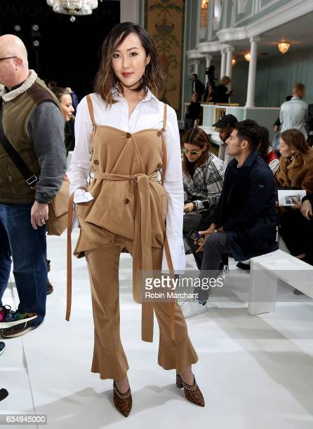 Chriselle Lim attends Sies Marjan during New York Fashion Week on February 12 2017 in New York City