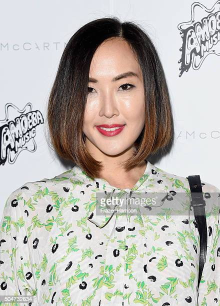 Chriselle Lim attends Stella McCartney Autumn 2016 Presentation at Amoeba Music on January 12 2016 in Los Angeles California