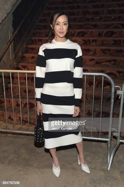 Chriselle Lim attends the Alexander Wang February 2017 fashion show during New York Fashion Week on February 11 2017 in New York City