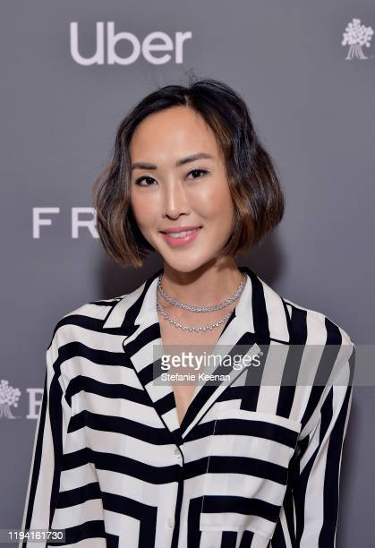 Chriselle Lim attends The Baby2Baby Holiday Party Presented By FRAME And Uber at Montage Beverly Hills on December 15, 2019 in Beverly Hills,...