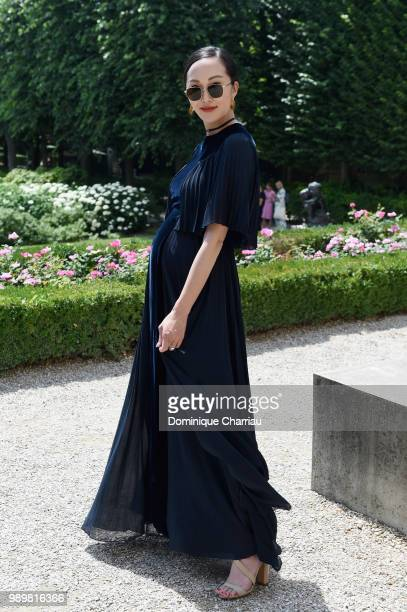 Chriselle Lim attends the Christian Dior Couture Haute Couture Fall/Winter 20182019 show as part of Haute Couture Paris Fashion Week on July 2 2018...