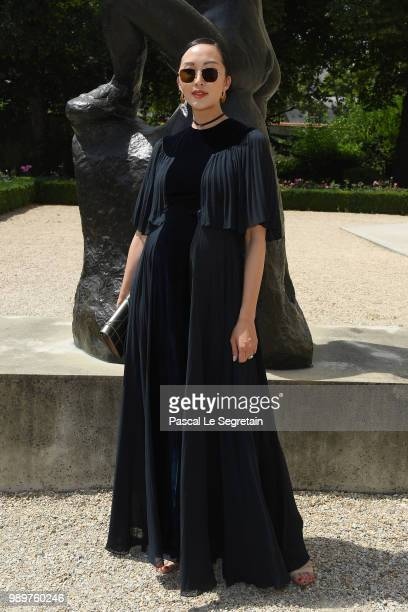 Chriselle Lim attends the Christian Dior Haute Couture Fall Winter 2018/2019 show as part of Paris Fashion Week on July 2 2018 in Paris France