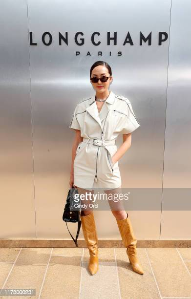 Chriselle Lim attends the Longchamp SS20 Runway Show at Hearst Plaza Lincoln Center on September 07 2019 in New York City