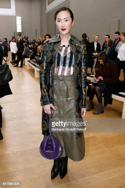 Chriselle Lim attends the Nina Ricci show as part of the Paris Fashion Week Womenswear Fall/Winter 2017/2018 on March 4 2017 in Paris France