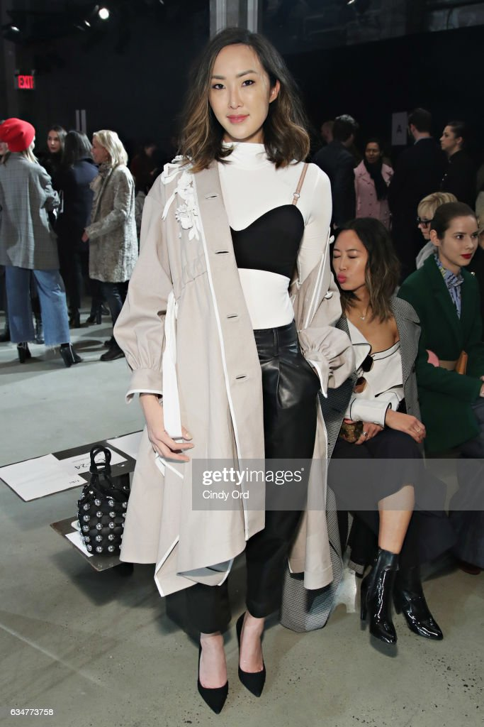 Chriselle Lim attends the Tibi fashion show during New York Fashion Week on February 11, 2017 in New York City.