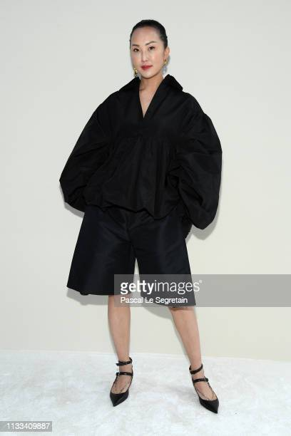 Chriselle Lim attends the Valentino show as part of the Paris Fashion Week Womenswear Fall/Winter 2019/2020 on March 03 2019 in Paris France
