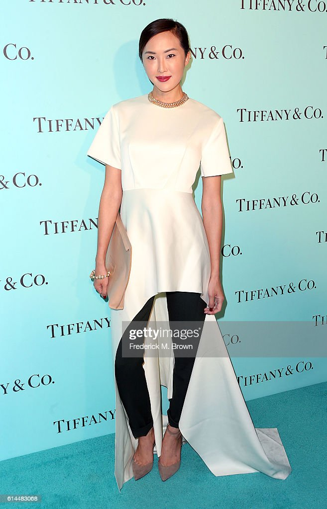 Chriselle Lim celebrates the unveiling of the renovated Tiffany & Co. Beverly Hills store at Tiffany & Co., on October 13, 2016 in Beverly Hills, California.