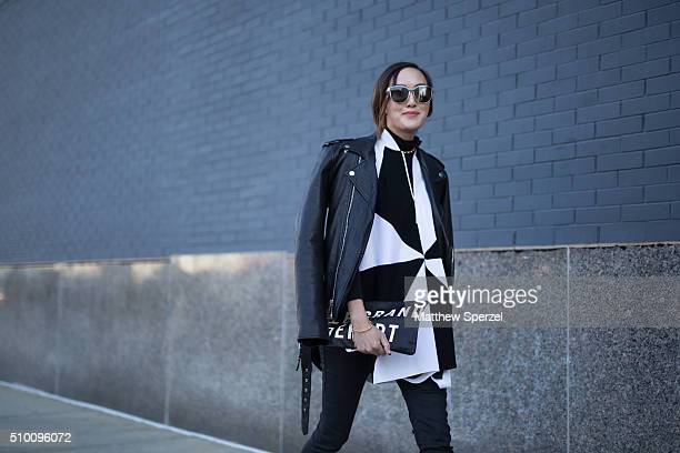 Chriselle Lim is seen at Lacoste during New York Fashion Week: Women's Fall/Winter 2016 on February 13, 2016 in New York City.