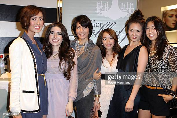 Chriselle Lim Jessica Harlow Michelle Feng Michelle Phan Jane Lim and Linette Kim attend Fashion Night Out at Sephora on September 8 2011 in New York...