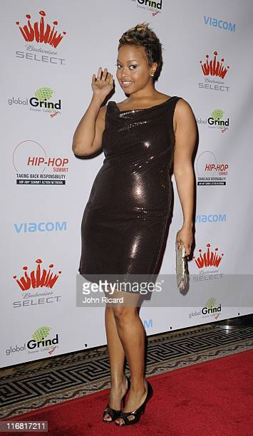 Chrisette Michele arrives at the Hip Hop Summit Action Network's Fifth Annual Action Awards at Capitale on February 25 2008 in New York City