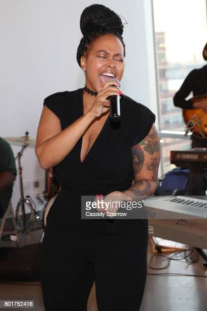 Chrisette Michele attends the Academy Charter School Art Auction Fundraiser at The Glasshouses on June 26 2017 in New York City