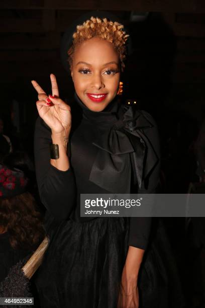 Chrisette Michele attends Vibe Magazine's 2nd Annual PreGRAMMY Impact Awards at The Carondelet House on January 24 2014 in Los Angeles California