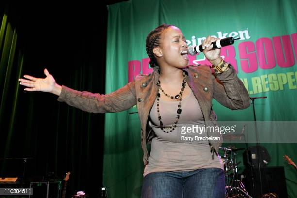 Chrisette Michele during Angie Stone Performs at the Heineken Red Star Soul in Chicago at Park West in Chicago Illinois United States
