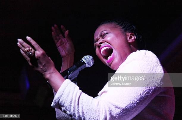 Chrisette Michele performs at Motown Mondays At The Red Rooster on June 11 2012