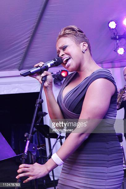 Chrisette Michele performs at the 2009 Harlem Renaissance Ball at The ADC Renaissance Tent on June 2 2009 in New York City