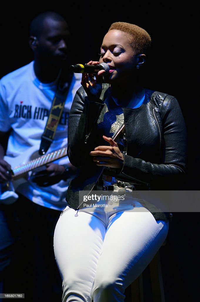 Chrisette Michele performs at The Orpheum Theatre on April 2, 2013 in Boston, Massachusetts.