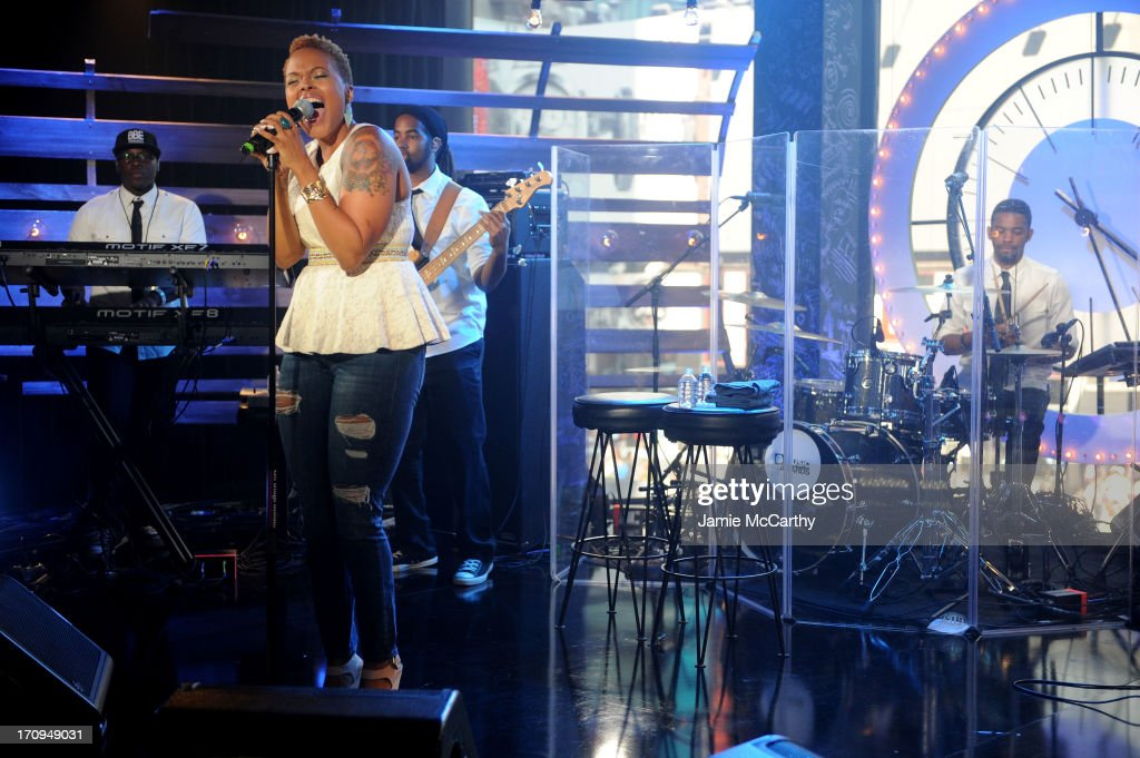 Chrisette Michele performs during the MTV, VH1, CMT & LOGO 2013 O Music Awards on June 20, 2013 in New York City.