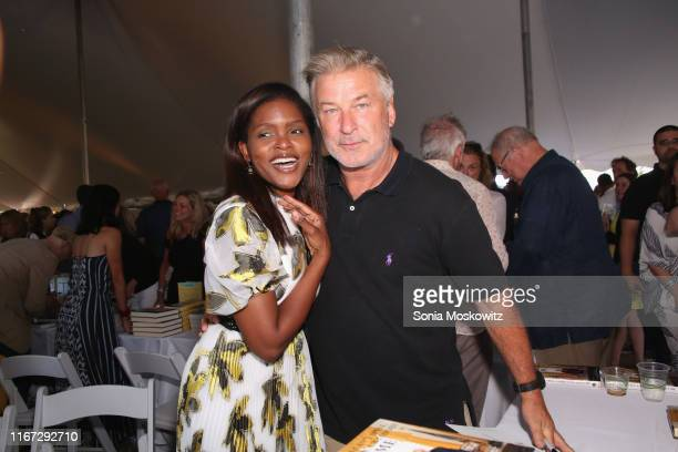 Chrishaunda Lee Perez and Alec Baldwin at the East Hampton Library's 15th Annual Authors Night Benefit on August 10, 2019 in Amagansett, New York.
