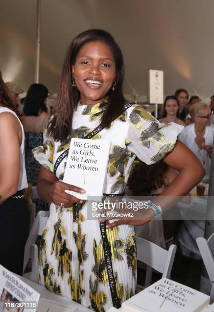 Chrishaunda Lee Perez at the East Hampton Library's 15th Annual Authors Night Benefit on August 10 2019 in Amagansett New York