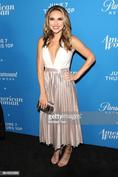 Chrishell Hartley attends the Los Angeles premiere of Paramount Network's 'American Woman' held at Chateau Marmont on May 31 2018 in Los Angeles...