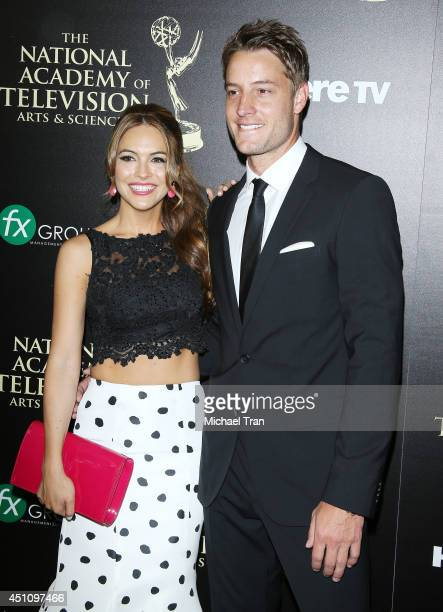 Chrishell Stause and Justin Hartley arrive at the 41st Annual Daytime Emmy Awards held at The Beverly Hilton Hotel on June 22 2014 in Beverly Hills...