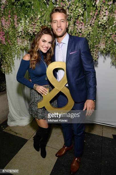 Chrishell Stause and Justin Hartley at Moet Celebrates The 75th Anniversary of The Golden Globes Award Season at Catch LA on November 15 2017 in West...