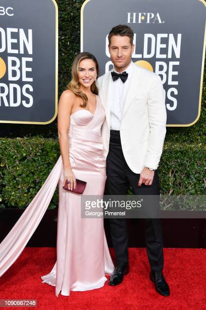 Chrishell Stause and Justin Hartley attend the 76th Annual Golden Globe Awards held at The Beverly Hilton Hotel on January 06 2019 in Beverly Hills...