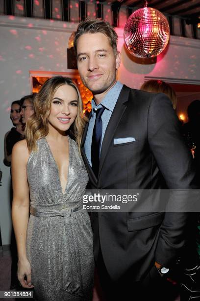 Chrishell Stause and Justin Hartley attend W Magazine's Celebration of its 'Best Performances' Portfolio and the Golden Globes with Audi Dior and Dom...