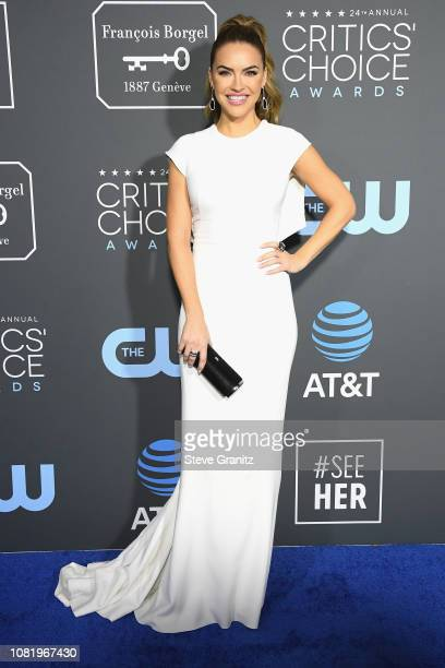 Chrishell Stause attends the 24th annual Critics' Choice Awards at Barker Hangar on January 13 2019 in Santa Monica California