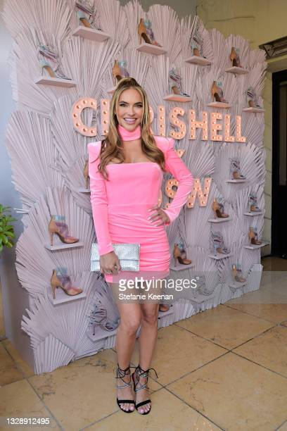Chrishell Stause attends the celebration of Chrishell Stause's DSW Fun, Flirty Capsule Collection at Sunset Tower Hotel on July 14, 2021 in Los...